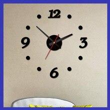 Acrylic Wall Clock digital Dot clock Simple Sticker DIY fashion