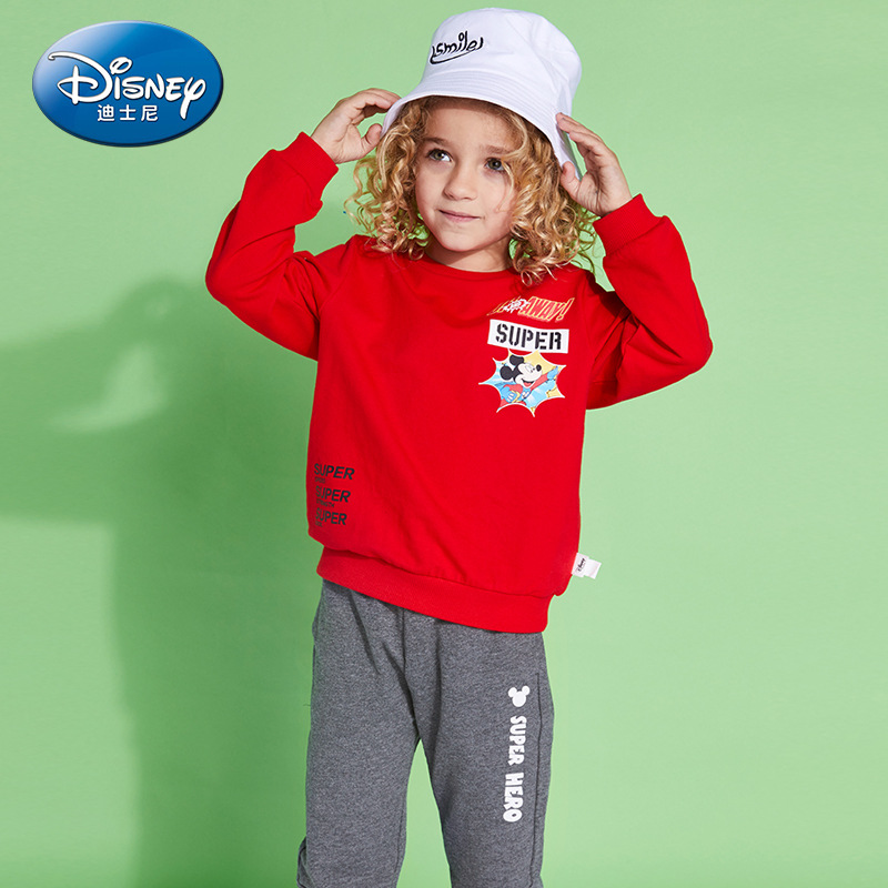 Clothing Sets Logical New Disney Authentic 2019 Baby Boys Suits Long Sleeve Red Black Sweatshirt Long Pants Children Spring Autumn Cool Set Gifts Perfect In Workmanship
