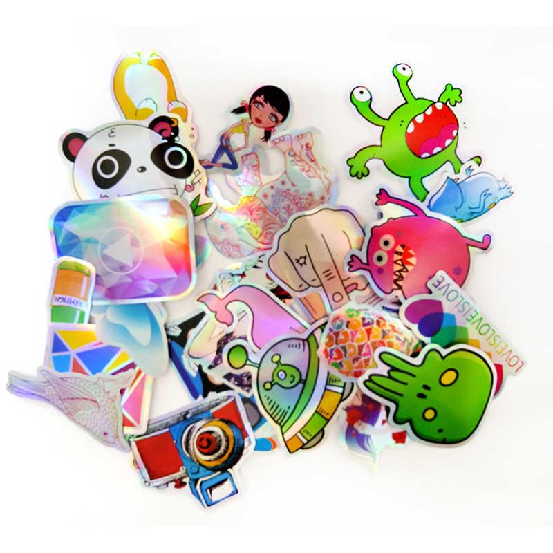 25 шт./лот мультфильм Сияющий бриллиант граффити наклейки для ноутбука Чемодан чемодан для скейтборда Водонепроницаемый ПВХ автомобильные наклейки pegatinas