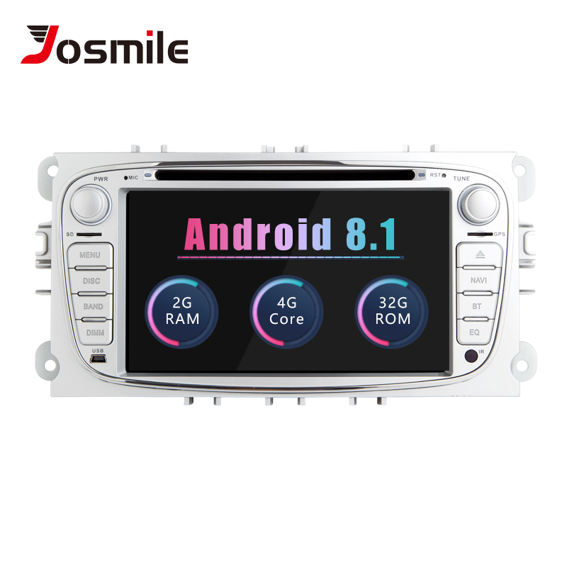 2 din Android 8.1 Car DVD Player For Ford Focus 2 Mondeo 4 C-Max S-Max Kuga 2008GalaxyTransit Connect Multimedia GPS Radio Audio