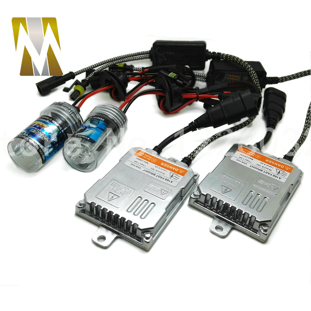 New Auto HID Kit AC 55W H8 H9 H11 H7 9005 9006 Xenon Bulb Kit HID Ballast Car Headlight Lamp for 4300k 6000k 8000k Light Source 10sets xenon hid kit h1 h3 h7 h8 h10 h11 9005 9006 dc 12v 35w xenon bulb lamp digital ballast car headlight j 4470