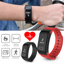New F1 Smartband Bluetooth Smart Wristband Watch Pedometer Heart Rate Monitor Sleep For iPhone Xiaomi Meizu PK xiaomi mi band 2
