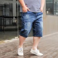 Denim Shorts Loose Fashion Casual Summer Denim Shorts Men Plus Size Short Masculino Short Pants Blue
