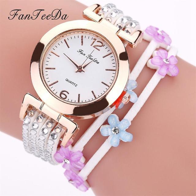 Handmade Woven Twist Bracelet Watch Popular Snake Pattern PU Leather Alloy Wrist