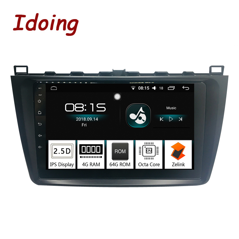 Idoing 9IPS 2.5D 4G+64G 1Din Android8.0 Car Radio audio Multimedia GPS Player For Mazda 6 Ruiyi Ultra 2008-2015 8Core Fast Boot