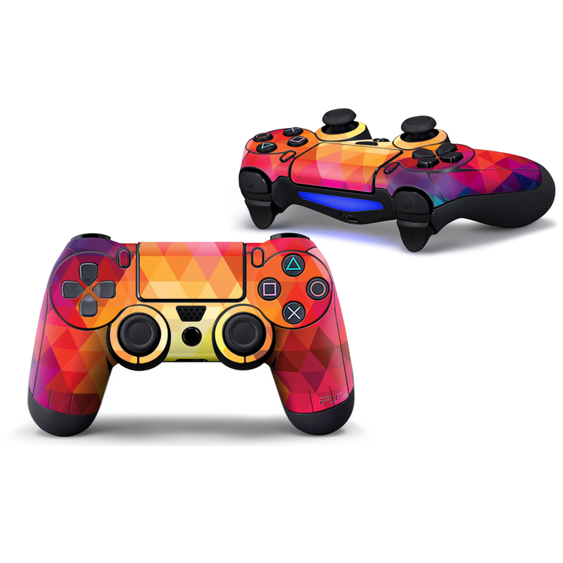 2pcs Design skin for PS4 Controller Protect Film Skin Sticker For PS4 Two Wireless Remote Controller