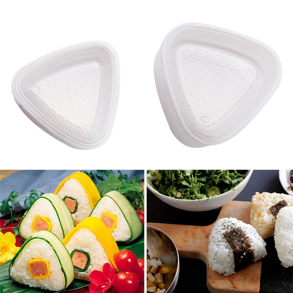 Plastic Press Type Japanese Food Sushi Mold Rice Ball Maker Kitchen Accessory