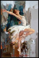 Needlework for embroidery DIY French DMC High Quality Counted Cross Stitch Kits 14 ct Oil painting Ballerina III