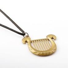 The Legend of Zelda Choker Necklace Princess Harp Pendant Men Women Gift Game Jewelry Accessories YS11649