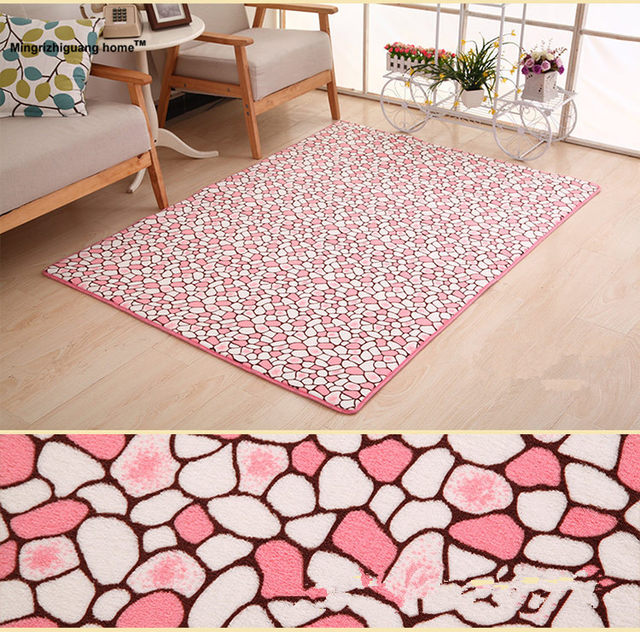 Online Shop 1PC 100x160cm Carpets For Living Room Shaggy Ivory Wool ...
