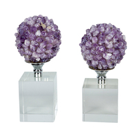 Natural Amethyst Cluster Flower Ball Ornaments Living Room Study High End Quart Crystal Stone Jewelry Home Decoration