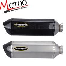 Motoo-fiber de Carbone 51mm moto Silencieux D'échappement avec DB-KILLER pour HONDA R1 R6 ZX-6R ZX-10R GSXR