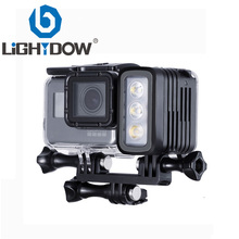 Lightdow 30 Meters Underwater Waterproof Diving LED Gopro LED Light Spot Lamp for GoPro Hero 6 5 4 3+ 3  SJCAM XIAOYi upgrade version 6 dome port underwater photography shell for gopro hd hero 4 3 for taking half in half out cool photos