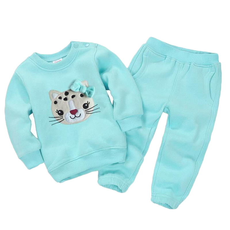 Spring Children Girls Clothing Set Brand Cartoon Boys Sports Suit 1-5 Years Kids Tracksuit Sweatshirts + Pants Baby Boys Clothes lavla2016 new spring autumn baby boy clothing set boys sports suit set children outfits girls tracksuit kids causal 2pcs clothes