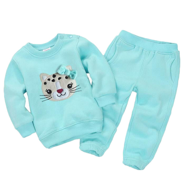 Spring Children Girls Clothing Set Brand Cartoon Boys Sports Suit 1-5 Years Kids Tracksuit Sweatshirts + Pants Baby Boys Clothes
