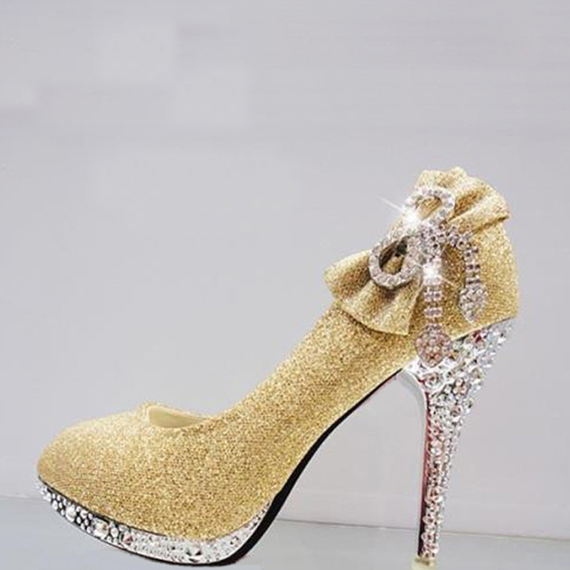 Crystal Wedding Women Shoes Platform Heels Shoes High Diamond Woman wIYqHIxC