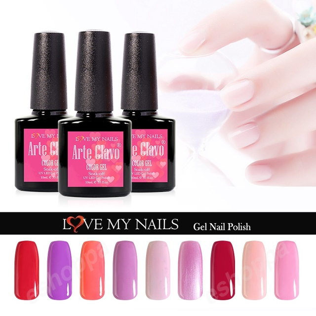 220 Colors Nail Gel Any 1 Color Arte Clavo 10ml Uv Acrylic Paint Polish