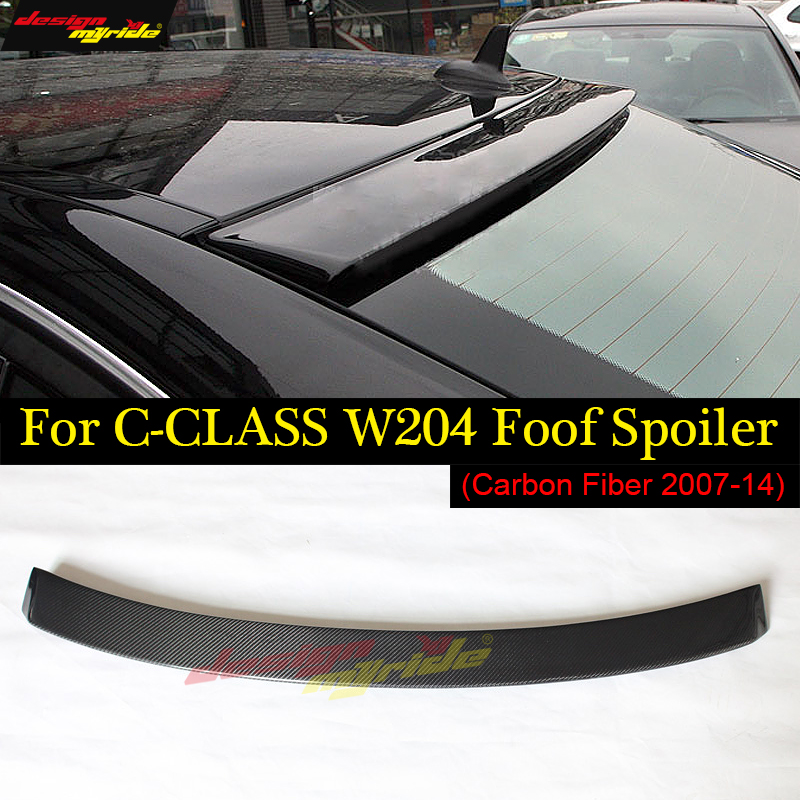 for Mercedes Benz C class w204 c200 c230 c250 c280 c300 c350 carbon fiber gloss black roof spoiler for benz 2007-2014 carbon fiber rear trunk amg style spoiler for mercedes c class w204 2008 2014 c180 c200 c220 c230 c250 c280 c300 c320