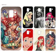 BINYEAE Tattooed Alice Ariel Jasmine Silicon TPU Case Cover Coque for Samsung J6 S8 S9 A6 A8 Plus J4 J8 2018 J3 J5 J7 2017 Capa(China)