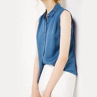 Bogeda Новинка шелковые блузки рубашки 2019 новый стиль темперамент женские повседневные чистый цвет элегантный отложной воротник блузка без р