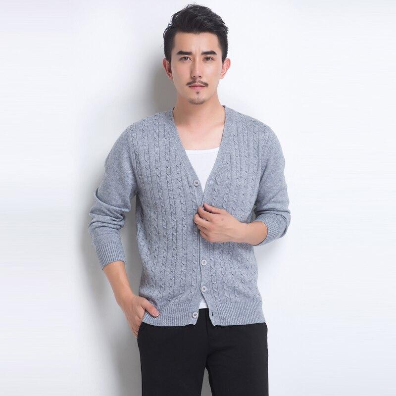 2017 spring new men's sweater slim cashmere sweater cardigan sweater Korean thin tide