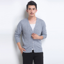 spring new men's sweater slim cashmere sweater cardigan sweater Korean thin tide