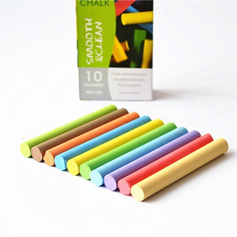 10 pcs/lot New Safe Dustless Chalk Pen Drawing Chalks for Ki