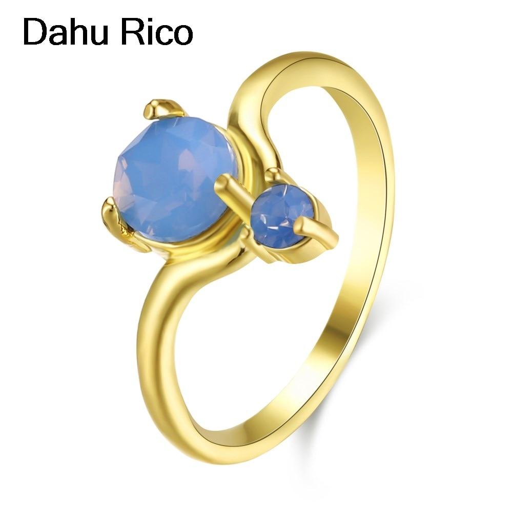 ear rings big ring dames ringen vegan alyans Dahu Rico gold plated rings