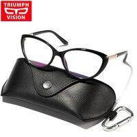 TRIUMPH VISION Vintage Cat Eye Clear Lens Glasses Frame Women Myopia Optical Eyewear Frames Female Spectacle