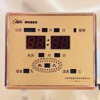 24 warunki słonecznego, cyfrowy kalendarz, elektroniczny zegar, budzik, pokój dzienny zegar cyfrowy, LED elektroniczny kalendarz, zegar wyciszenia