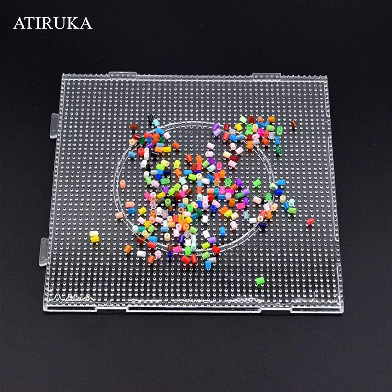 2.6mm/5mm Perler Beads Square Pegboard 3D Puzzle Juguetes For Hama Bead Educational Toys for Children Jigsaw Puzzle Brinquedos