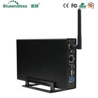 RJ45 disco duro externo caso Nas antena wifi inalámbrico wifi sata usb 3,0 hdd wifi interfaz de aluminio hdd caja hdd 3,5 HDD caddy