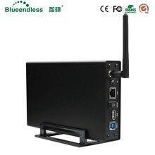 RJ45 внешний жесткий диск случае Nas Беспроводная wi-fi-антенна Wi-Fi sata usb 3,0 wifi интерфейс hdd алюминиевая коробка hdd 3,5 hdd caddy