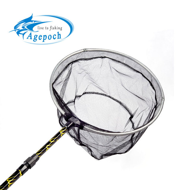 New Arrival Telescope Aluminum Alloy Folding Carp & Extending Pole Handle Fishing Brail Landing Net Tackle 180cm Fishing Net