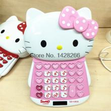 Hello Kitty Electronic Calculator Office & School Mini Cute Calculating Dual Solar Power Calculadora As Gift