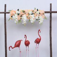 1m orchid artificial flower row decor for DIY wedding party iron arch platform background flower wall window decor props 1pc