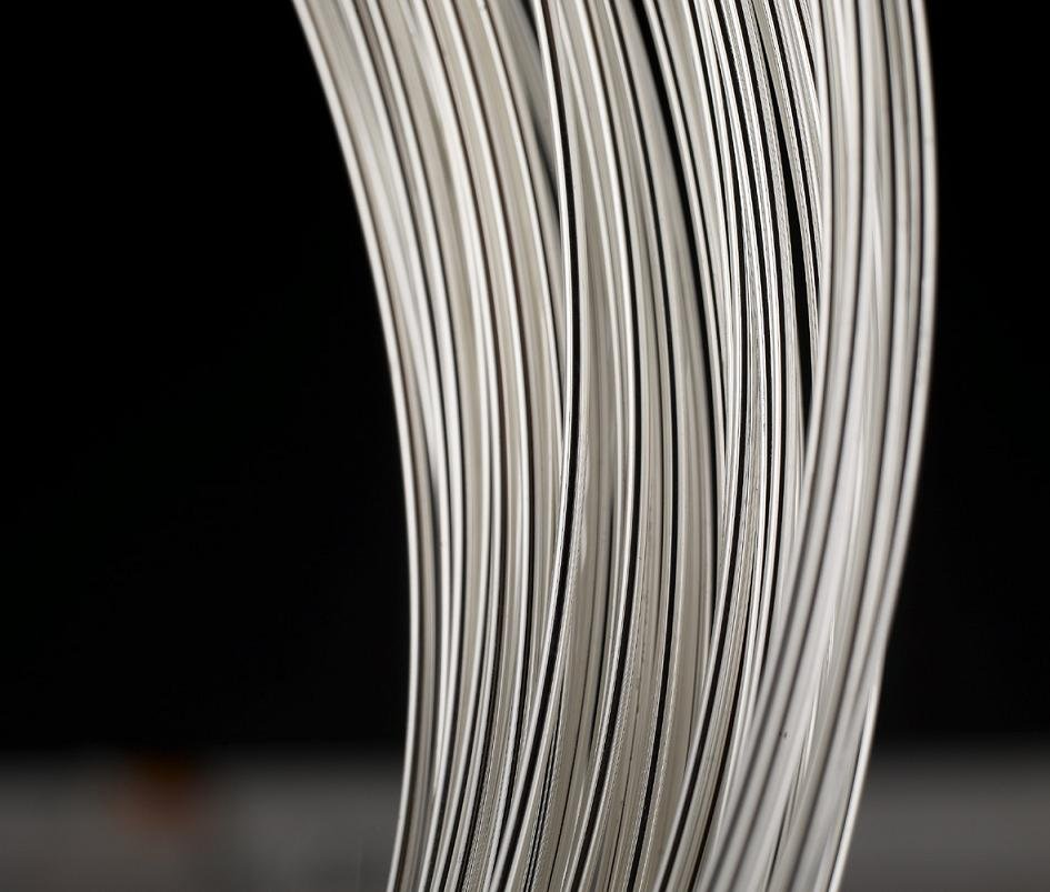925 Solid Sterling Silver finding 1meters of sterling 0.8mm silver wire Silver Jewelry Bead Wire For jewelry finding