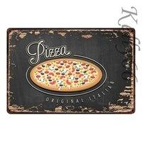 [Kelly66] итальянская пицца оригинальный итальянский металлический знак оловянный плакат табличка для домашнего декора настенная живопись 20*30...