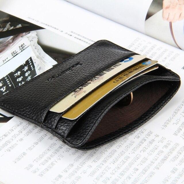 6 Color Card Holder Men's Business Pocket Slim Thin ID Credit Card Money Holder Wallet  Faux leather Man Card Case Wallets 5