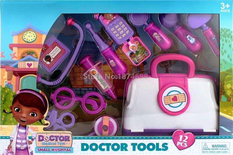 New Doc McStuffins Toys Small Hospital Doctor Tools Figure Set 12PCS Kids Toys for Girls Children