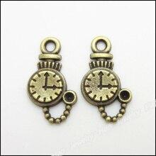 200 piezas Vintage Charms Mesa colgante bronce antiguo Fit pulseras collar DIY Metal joyería fabricación