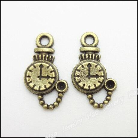 200pcs Vintage Charms Table Pendant Antique bronze Fit Bracelets Necklace DIY Metal Jewelry Making ...