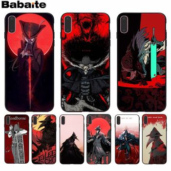 Babaite Bloodborne game Smart Cover Black Soft Shell Phone Case for Apple iPhone 8 7 6 6S Plus X XS MAX 5 5S SE XR Cellphones image