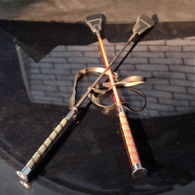 Новые приходят супер длинные 67 См, металлическую палочку Кнутами Фетиш Лошадей Растениеводство кнут Кожа Порка Paddle Flogger Секс Игрушки Для Пару Секса магазин