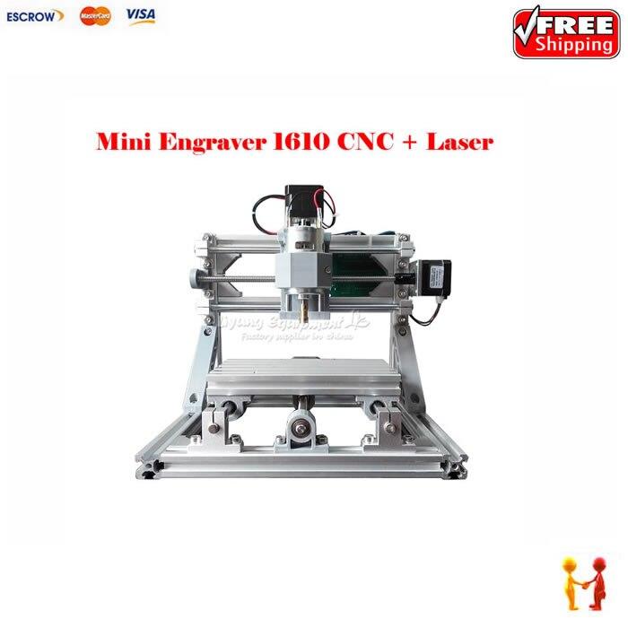 mini CNC milling machine 1610 500mw laser CNC engraver work for pcb wood pvc etc with GRBL controlmini CNC milling machine 1610 500mw laser CNC engraver work for pcb wood pvc etc with GRBL control