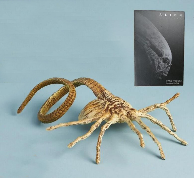 Alien Predator 1:1 Size Facehugger Official Covenant Poseable Prop Replica Figure Toys