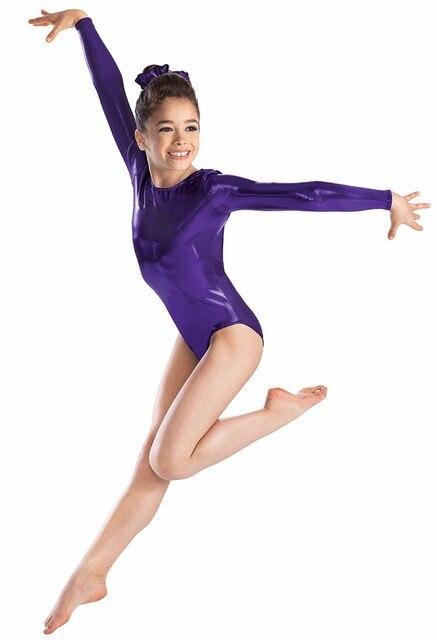 03db22d7c946 Товар Mandy Lycra Spandex Child Gymnastics Leotards Girls Shiny Long ...