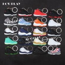 b9965e3eed5ba0 Howplay AJ11 mini basketball sneakers keychain jordan 11 fan basketball  shoes model keyring backpack pendant creative