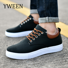 YWEEN Autumn Men's Casual Shoes New Fashion Sneakers For Men Solid Canvas Shoes Large size 38-46