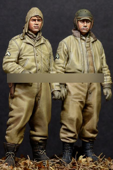 1/35 Resin Figures WWII Pilot 2pcs/set Model Kits